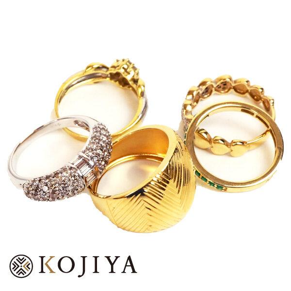 K18YG K18WG 指輪 リング (2021/1/30 K18・1gレート4,682円)