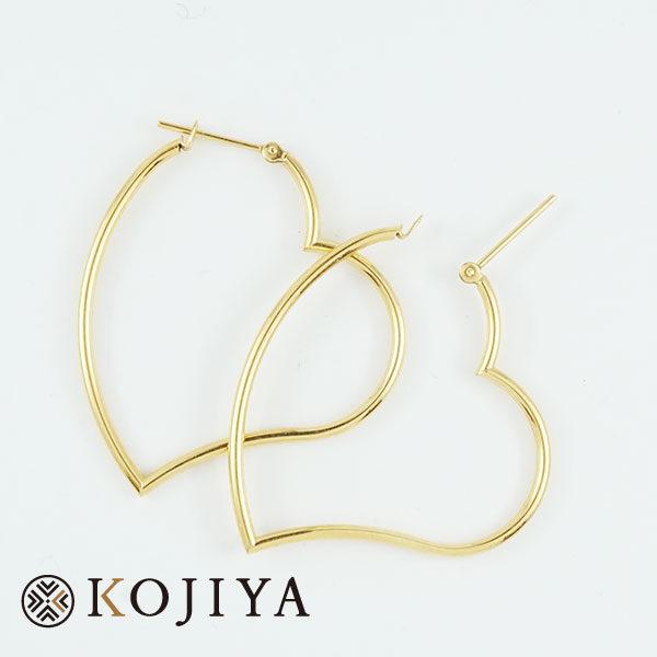 ピアス K18YG ハート (2021/2/26 K18・1gレート4,552円)