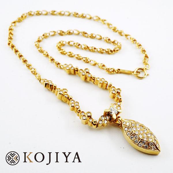 ダイヤモンド K18YG イエローゴールド ネックレス(2021/2/23 K18・1gレート4,525円)