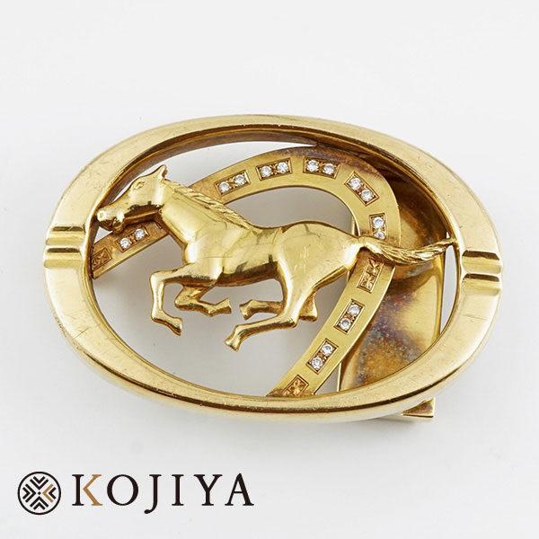 K18YG ベルトバックル ネックレス イエローゴールド 貴金属 (2021/4/2 K18・1gレート4,601円)