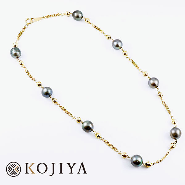 K18YG ネックレス イエローゴールド パール 貴金属 (2021/3/23 K18・1gレート4,575円)