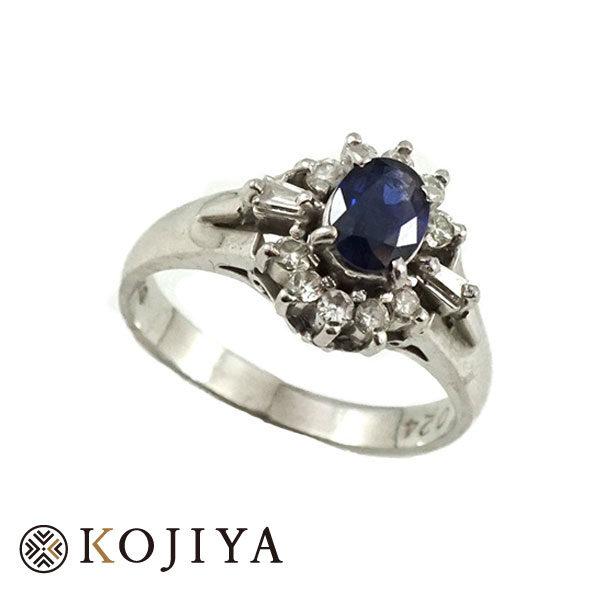 Pt900リング サファイヤ ジュエリー (2021/4/20 Pt900・1gレート3,689円)+サファイヤ ダイヤの価格