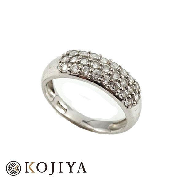 K18WG ダイヤ 指輪 リング (2021/3/27 K18・1gレート4,587円)+ダイヤの価格