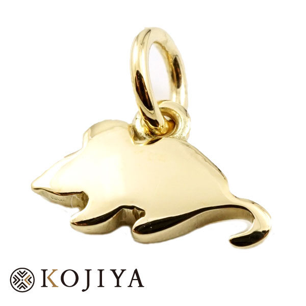 Pomellato ポメラート ネックレストップ ねずみ K18YG イエローゴールド 刻印後入れ消し必要