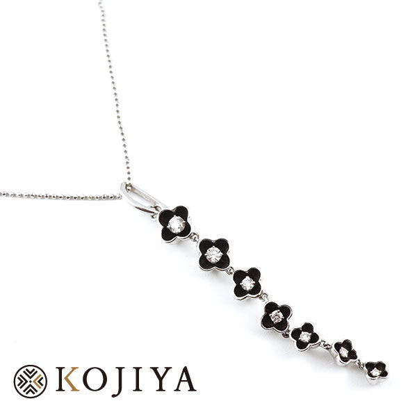 K18WG ネックレス ホワイトゴールド 貴金属 (2021/4/20 K18・1gレート4,621円)+ダイヤモンドの価格