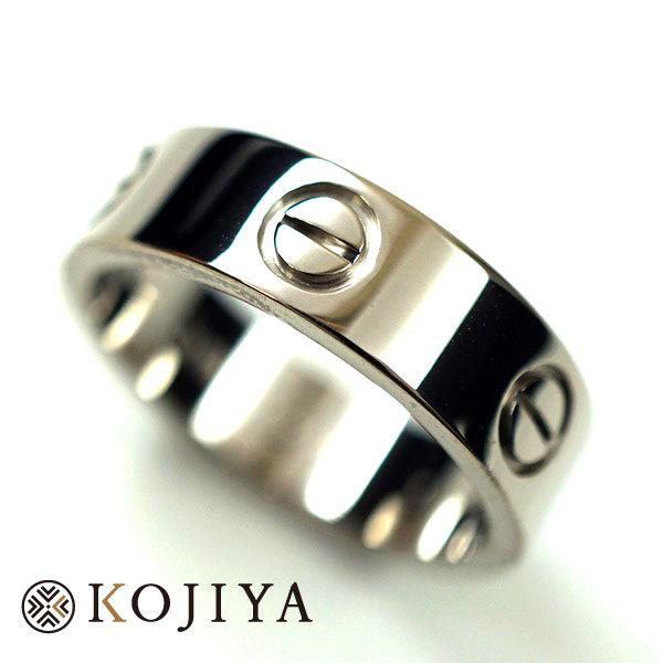 Cartier カルティエ ラブリング ホワイトゴールド #57 指輪 ABランク 仕上げ