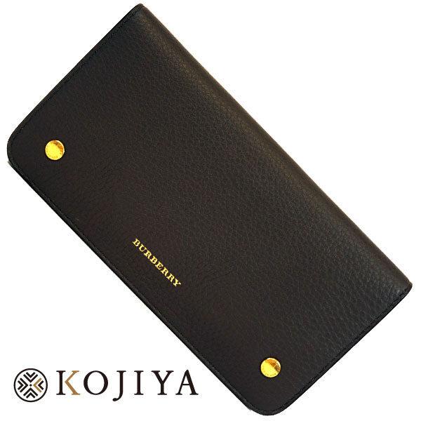 BURBERRY バーバリー 札入れ 二つ折り 長財布 カードケース ロンドン ネイビー 紺 黒 ブルー Sランク