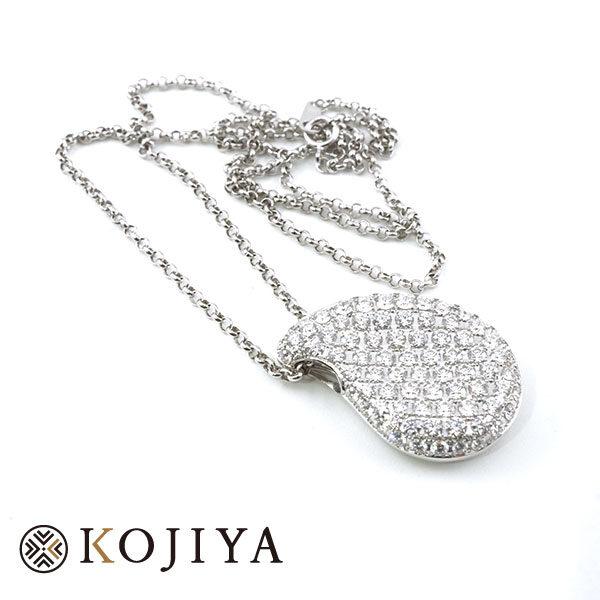K18WG ネックレス ホワイトゴールド 貴金属 (2021/5/29 K18・1gレート5,065円)+ダイヤモンドの価格