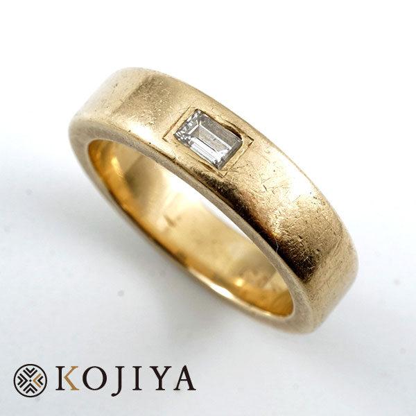 K18YG リング イエローゴールド 貴金属(2021/7/5 K18・1gレート4,809円)+ダイヤの価格