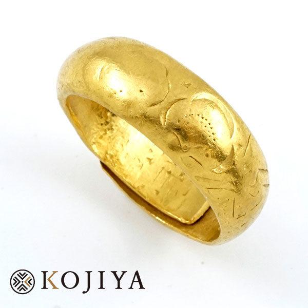 K24YG 純金 リング 指輪  貴金属(2021/6/1 K24・1gレート7,003円)
