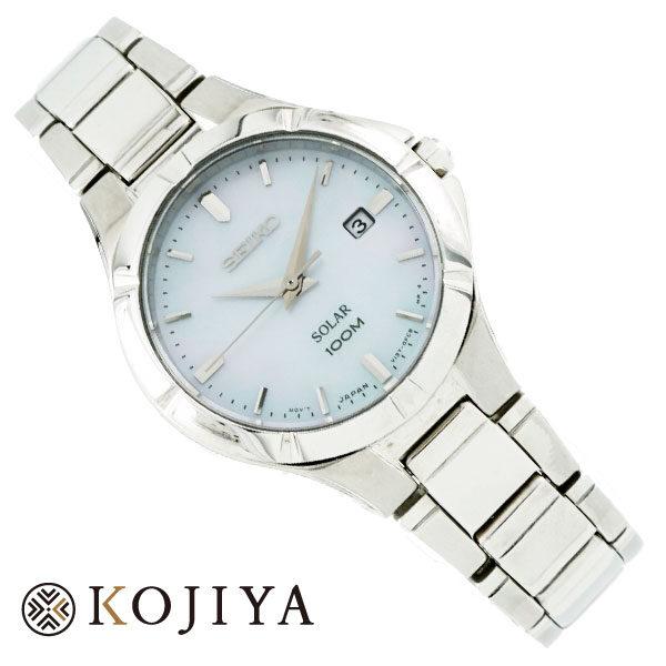 SEIKO セイコー SOLAR ソーラー 100M防水 SUT293P1 レディース 腕時計 ウォッチ Aランク