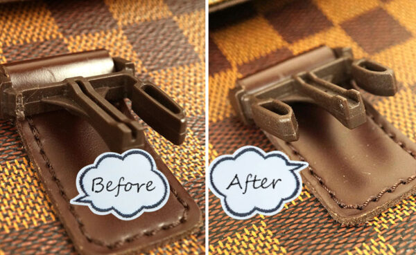 ルイ・ヴィトンのポシェット、メルヴィールのバックル留め具を修理しました。交換費用は…?