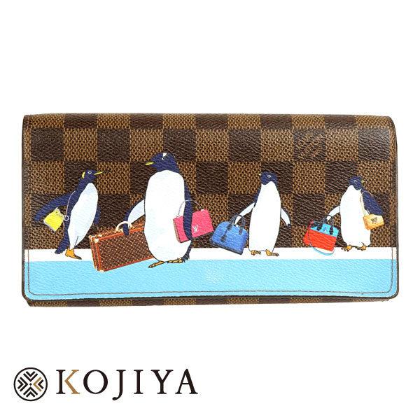 LOUIS VUITTON ルイ ヴィトン ダミエ ポルトフォイユ サラ N64426 ペンギン 2017年限定 二つ折り長財布 Aランク